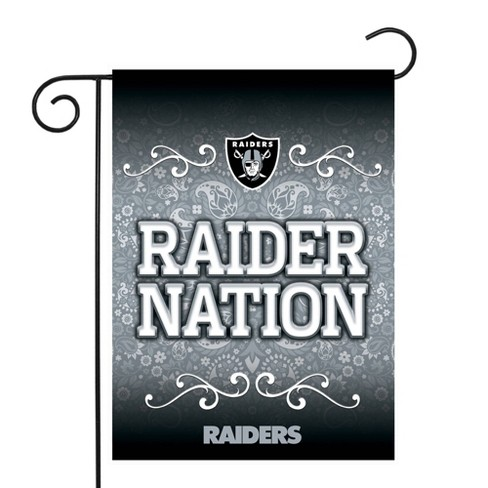 Nfl Oakland Raiders Garden Flag With Pole Target
