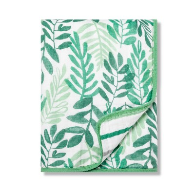 Muslin Baby Blanket Ferns - Cloud Island™ Trinket Green