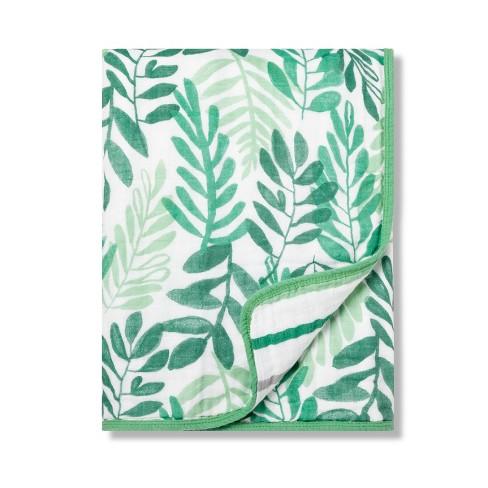 Muslin Baby Blanket Ferns - Cloud Island™ Trinket Green - image 1 of 1