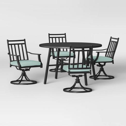 Fairmont 5pc Patio Dining Set w/ Swivel Chairs - Aqua - Threshold™ - image 1 of 1