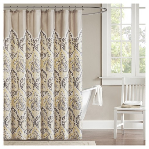 Mosaic Shower Curtain Yellow Target