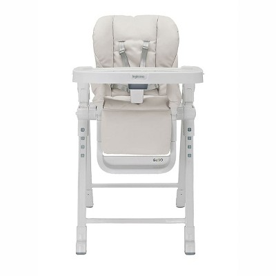 Inglesina Gusto Adjustable Baby Toddler Foldable High Chair with Removable Serving Tray Insert, 5 Point Safety Harness, and Reclining Seat, Cream