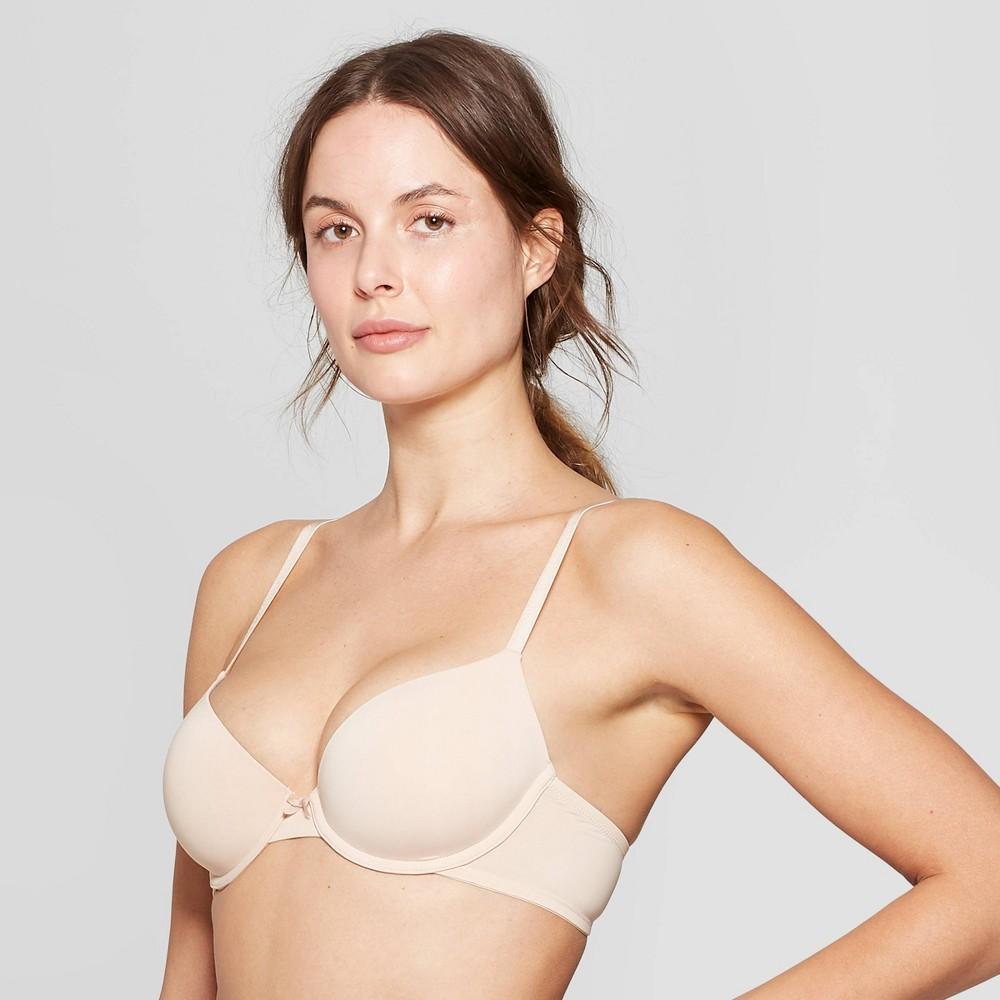 Women's Everyday Lightly Lined Demi T-Shirt Bra - Auden Soft Beige 38D