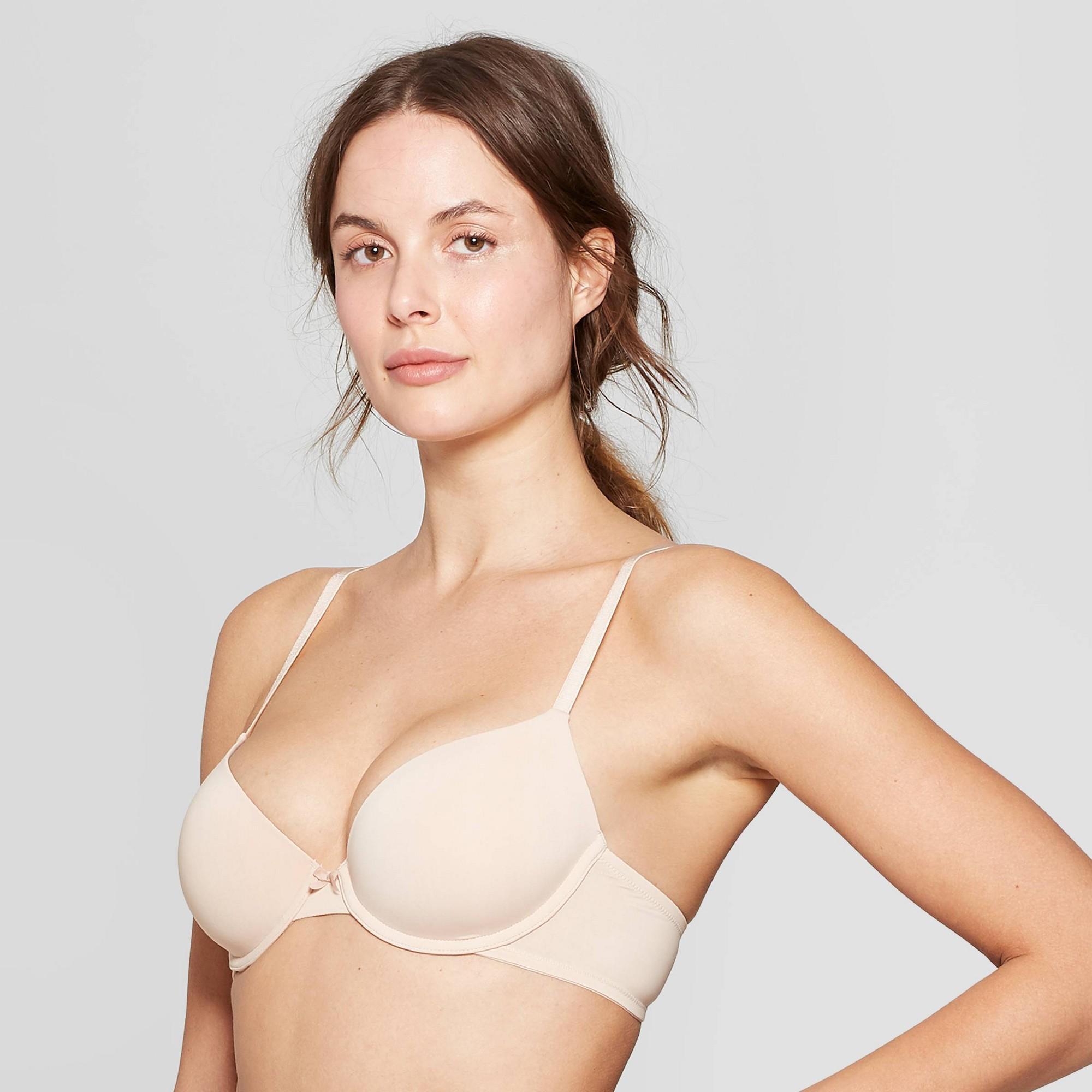 Women's Everyday Lightly Lined Demi T-Shirt Bra - Auden Soft Beige 38DD