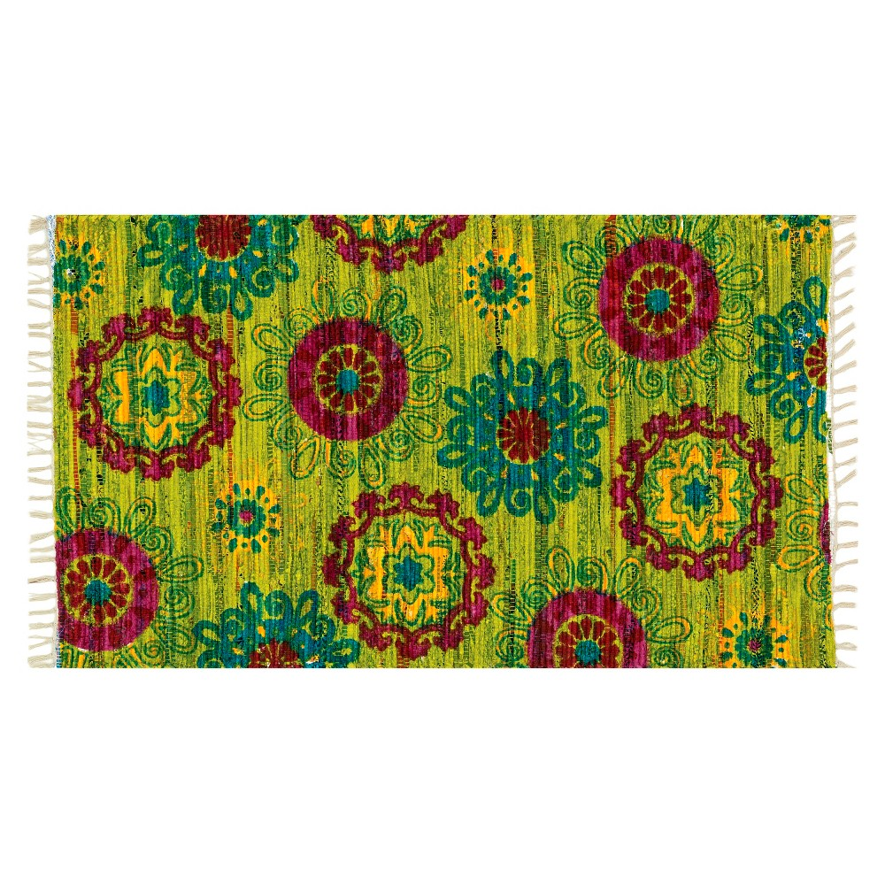 Image of Loloi Aria Accent Rug - Green (1'8X3')