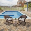 3pc Patio Rocking Bisto Set - Peaktop - image 3 of 4