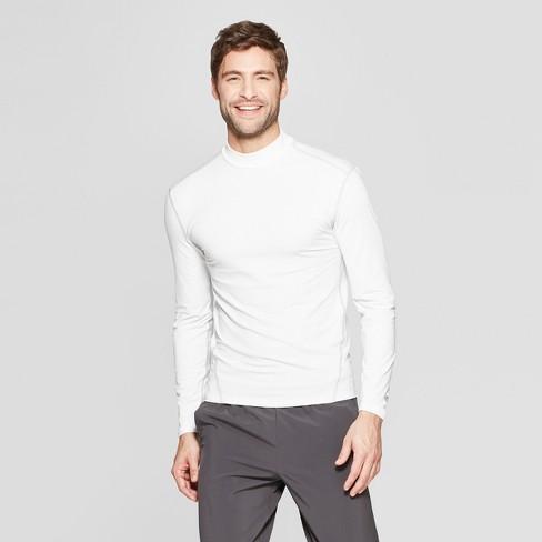 549371d3f3c5 Men's Long Sleeve Mock Neck Compression T-Shirt - C9 Champion® True White  XL : Target