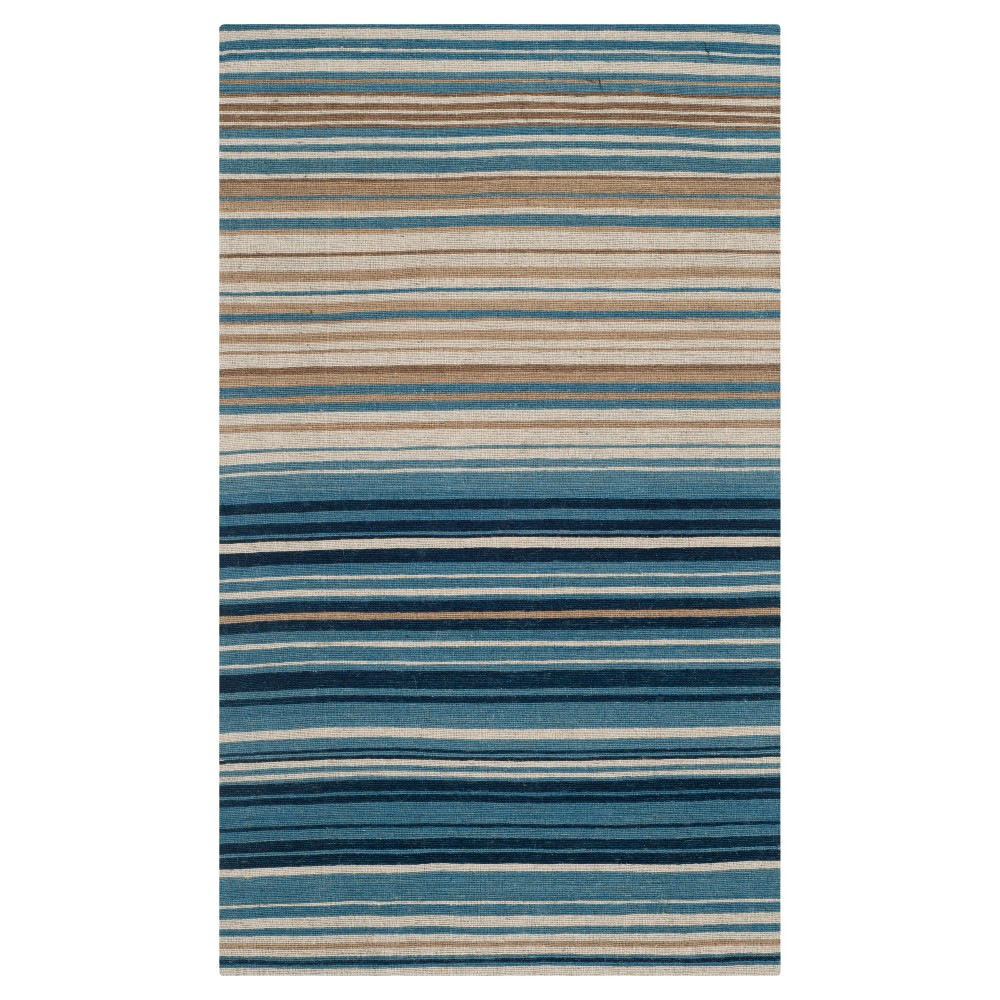 Blue/Multi Stripes Tufted Accent Rug - (3'X5') - Safavieh