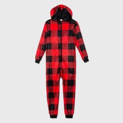 Kids' Buffalo Plaid Union Suit - Cat & Jack™ Red 4