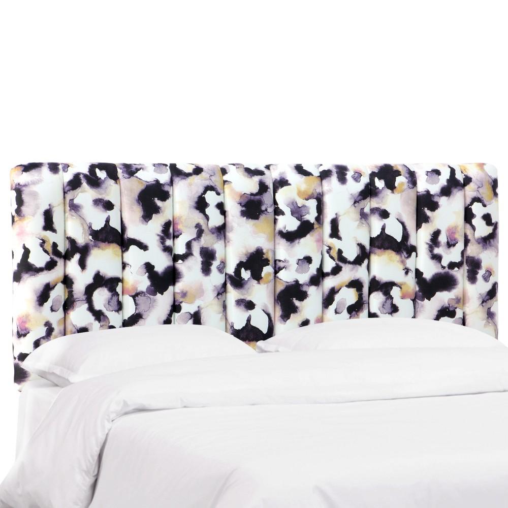 Full Charlotte Channel Seam Headboard Lavender Print - Cloth & Co.