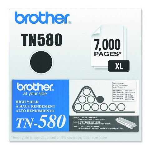 Brother TN580 High-Yield Toner, Black (TN580) - image 1 of 2