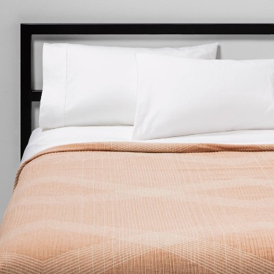 Full/Queen Oversized Reversible Jacquard Coverlet Apricot - Project 62™