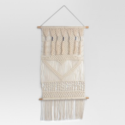 Macrame Wall Tapestries 38 X 29 X 5 - Cream - Threshold™