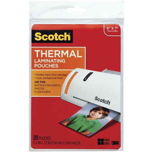 Scotch Thermal Laminating Pouch 5 X 7