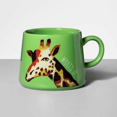 16oz Porcelain What's Up Mug Green - Opalhouse™