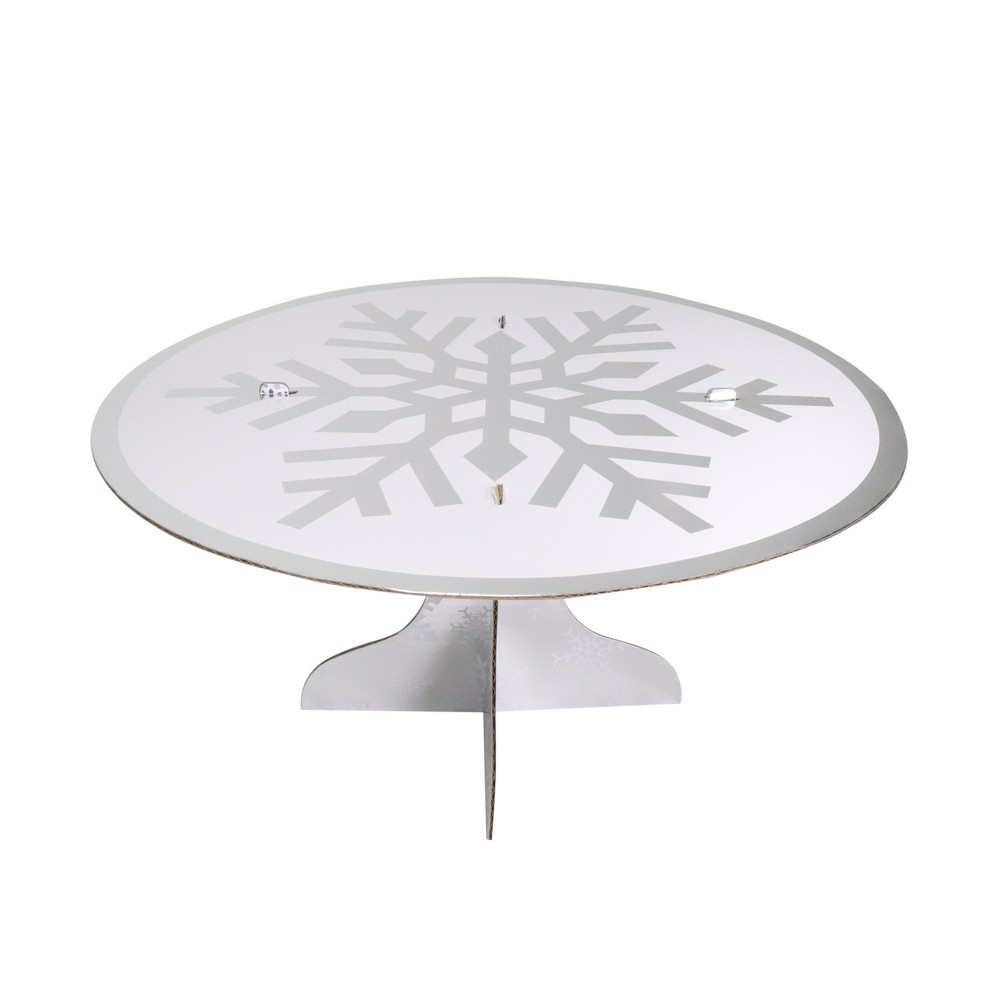 Snowflake Elevated Cake Stand - Wondershop, Bright Silver