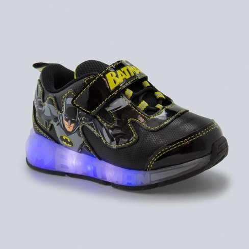 Toddler Boys' Batman Lighted-Up Sneakers - Black - image 1 of 3