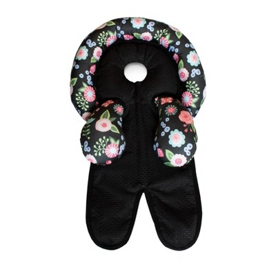 Boppy Head & Neck Support for Car Seats Strollers - Black Floral