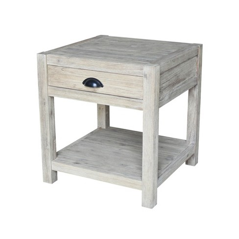 Modern Rustic End Table Gray Wash - International Concepts - image 1 of 4