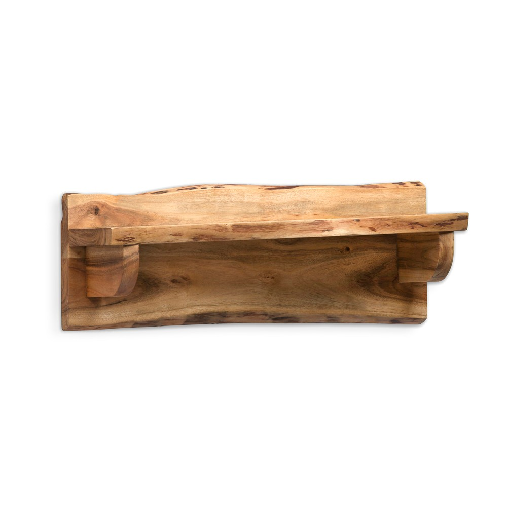 "Image of ""24"""" Alpine Live Edge Wood Mantel Shelf Natural Brown - Alaterre Furniture"""