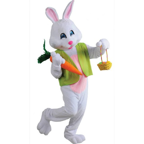 Deluxe Adult Green Vest Easter Bunny Costume Bodysuit (with 4 Accessories) One Size - image 1 of 3