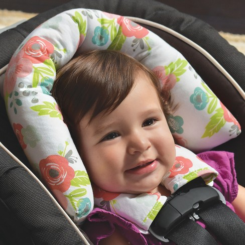 GO By Goldbug Floral Duo Car Seat Head Support And Strap Set