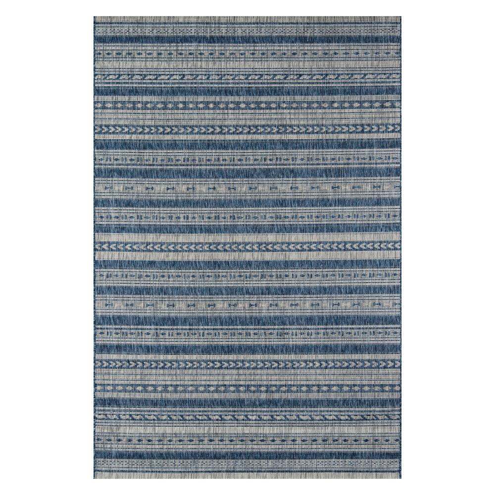 2'X3' Fair Isle Design Loomed Accent Rug Blue - Novogratz By Momeni