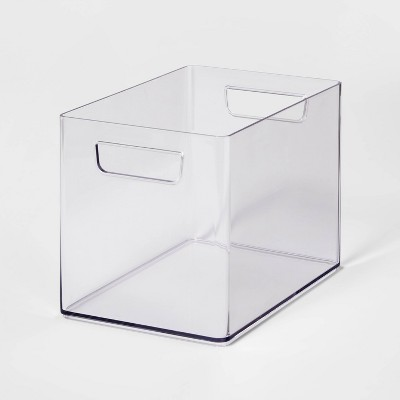 Bathroom Organizer Bin with Handles Clear - Made By Design™