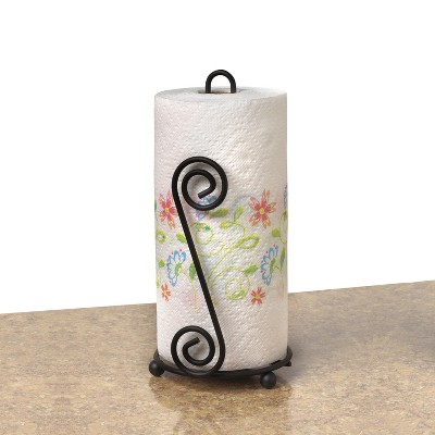 Scroll Paper Towel Holder - Black