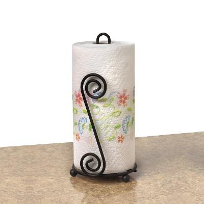 Scroll Paper Towel Holder - Black
