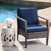 Arcadia Outdoor Wicker 4pc Patio Seating Set - Gray /Navy - Abbyson Living - image 4 of 4