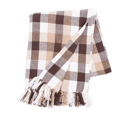 """C&F Home Dunmore Plaid Cocoa Woven 50"""" x 60"""" Throw Blanket"""