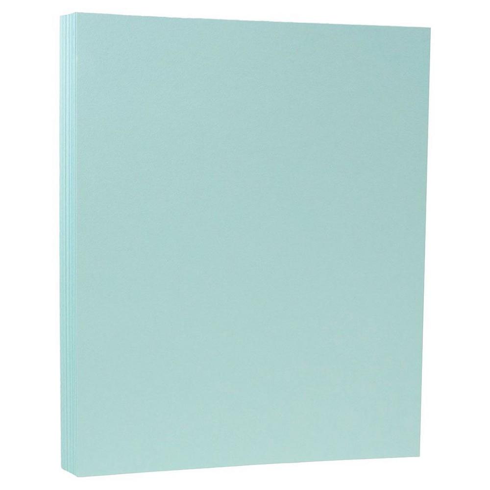 Jam Paper, Basis 28lb Paper, 8.5 x 11, 50pk - Aqua Blue