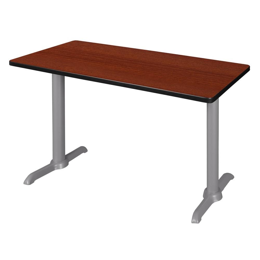 48 Via Training Table Cherry/Gray (Red/Gray) - Regency