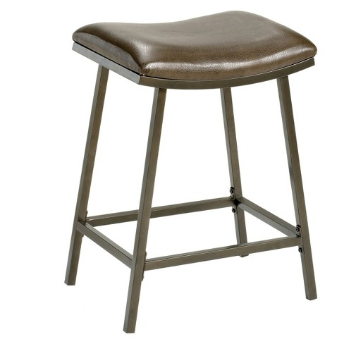 """Saddle Seat with Nested Leg 24"""" Counter Stool Metal/Brown Copper - Hillsdale Furniture - image 1 of 2"""