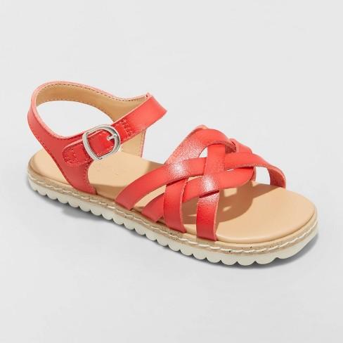 Toddler Girls' Vinessa Ankle Strap Sandals - Cat & Jack™ Red - image 1 of 4