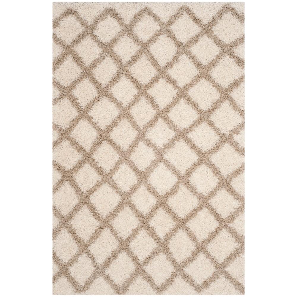 4'X6' Geometric Loomed Area Rug Ivory/Beige - Safavieh