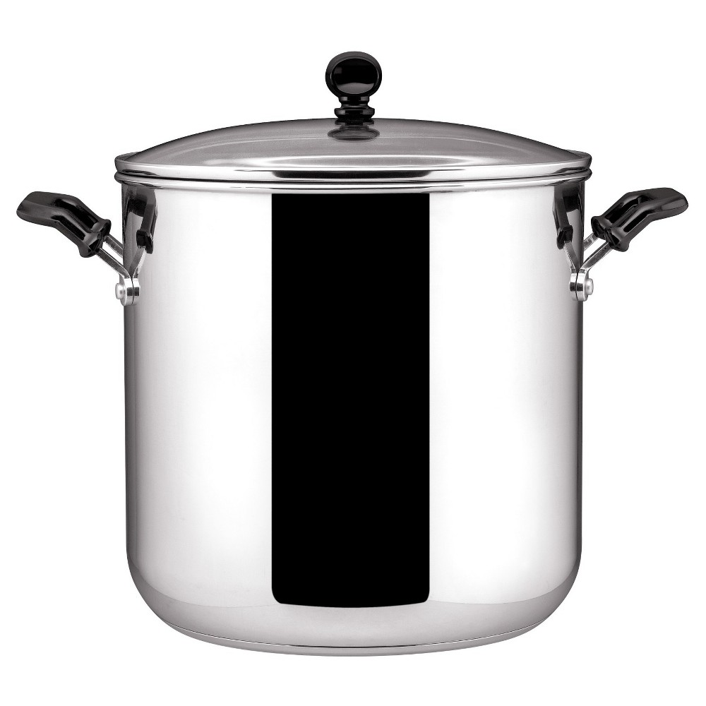 Image of Farberware Classic Stainless Steel 11-Quart Covered Stockpot, Silver