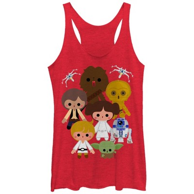 Women's Star Wars Cute Cartoon Rebels Racerback Tank Top