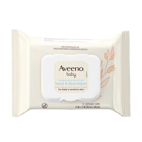 Aveeno Baby Sensitive Skin Baby Wipes - 25ct - image 1 of 4