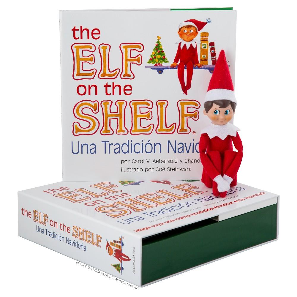 The Elf on the Shelf: Uno Tradición Navideña with Blue-Eyed, Light Skin Tone Boy Scout Elf
