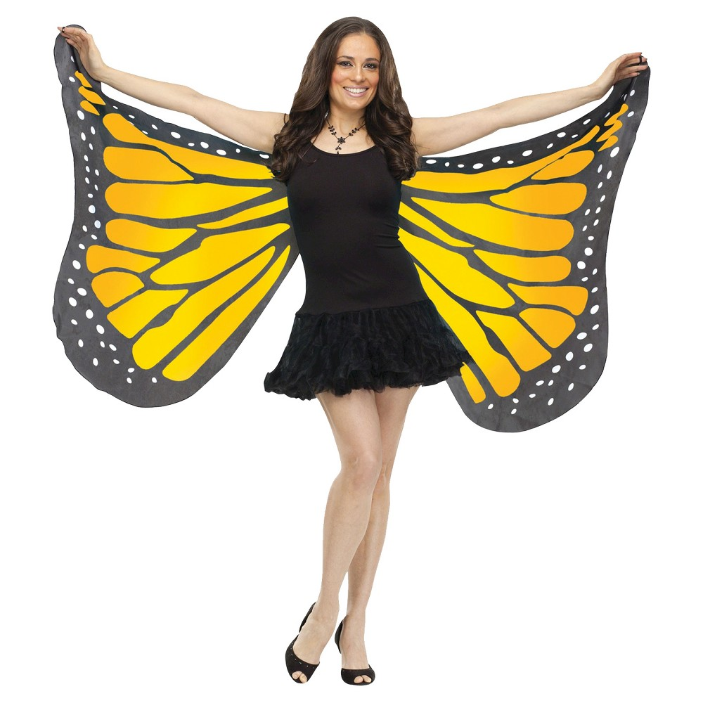 Soft Butterfly Adult Wings Orange - One Size Fits Most, Women's