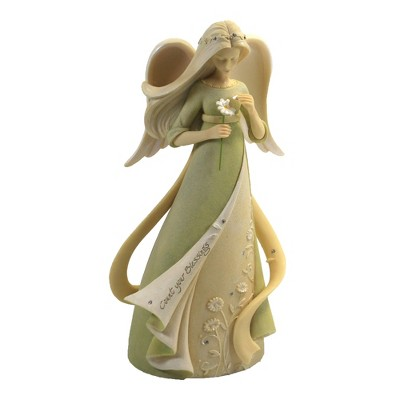 """Foundations 7.5"""" Count Your Blessings Angel Daisy Flower Figurine  -  Decorative Figurines"""
