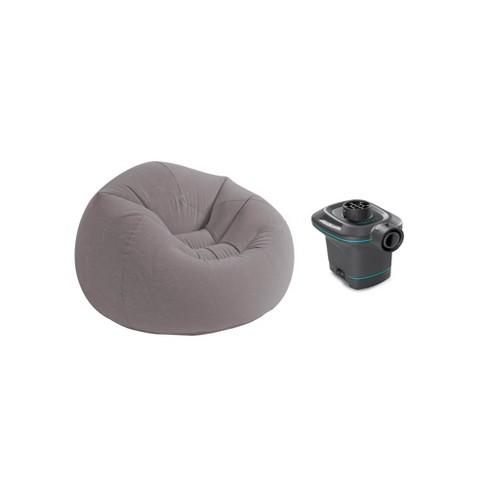 Awe Inspiring Intex 120V Ac Electric Air Pump Inflatable Corduroy Beanless Bag Lounge Chair Dailytribune Chair Design For Home Dailytribuneorg