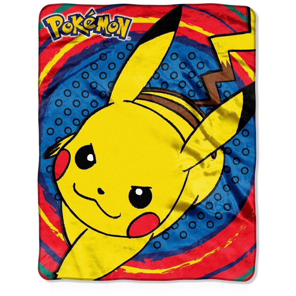 Throw Pokemon Pokemon 40X50 INCHES Throw Pokemon Pokemon 40X50 INCHES Color: MultiColored. Pattern: fictitious character.