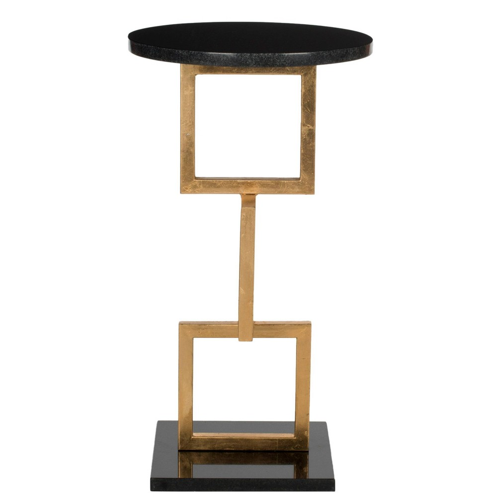 Cassidy Accent Table - Black - Safavieh, Black Gold