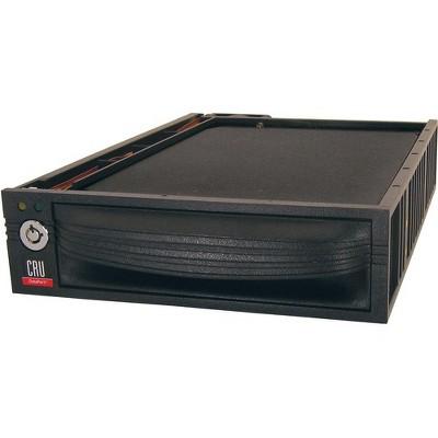 "CRU DataPort 30 Removable Drive Enclosure - 1 x 3.5"" - 1/3H Internal - Black"
