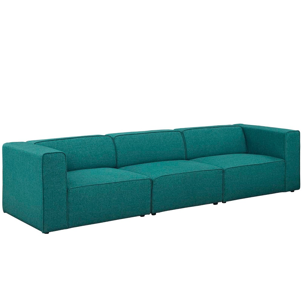Peachy Mingle 3Pc Upholstered Fabric Sectional Sofa Set Teal Blue Inzonedesignstudio Interior Chair Design Inzonedesignstudiocom