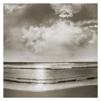 35 x35  Infinity By Mike Caliscibetta Art On Canvas Gray - Fine Art Canvas