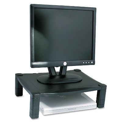 Kantek Single Level Height-Adjustable Stand 17 x 13 1/4 x 3 to 6 1/2 Black MS400